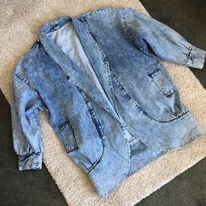 Vintage Premium denim oversized jacket / coat